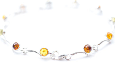 Baltic Beauty Bracelets Dainty Multicolour Amber Bracelet