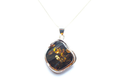 Baltic Beauty Pendant Dark Amber Pendant Necklace