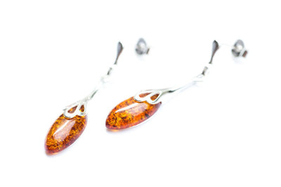 Baltic Beauty Earrings Delicate Drop Amber Earrings