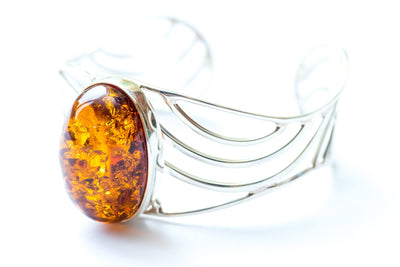 Baltic Beauty Bangles Elegant Amber Bangle