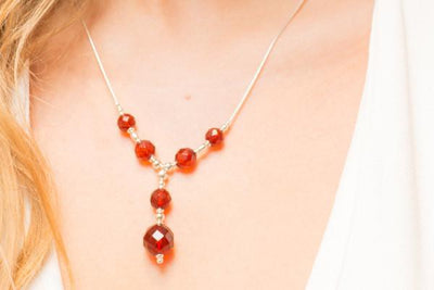 Baltic Beauty Jewellery Sets Faceted Cherry Amber Jewelry Set