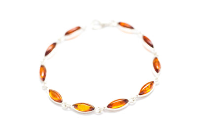Baltic Beauty Bracelets Fine Oval Amber Bracelet