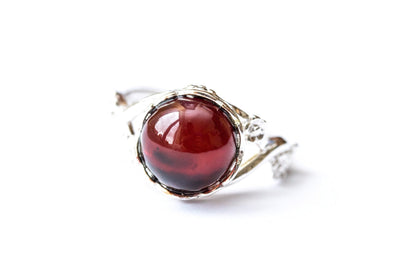 Baltic Beauty Rings Floral Cherry Amber Ring