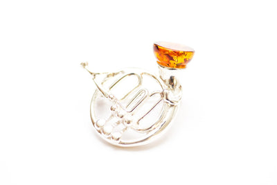 Baltic Beauty Brooches French Horn Amber Brooch