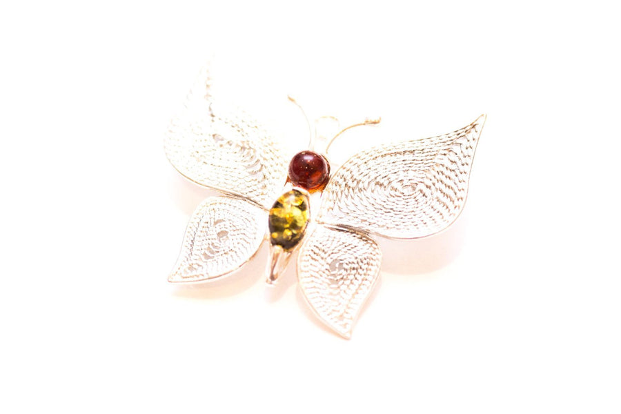 Baltic Beauty Brooches Gemstone Butterfly Brooch