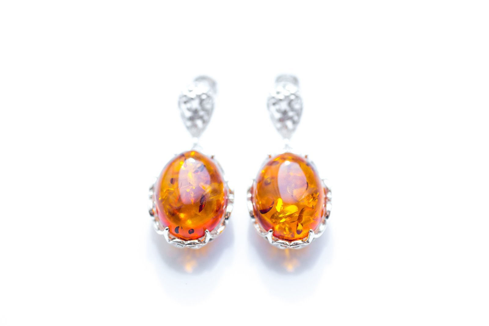 Baltic Beauty Earrings Golden Amber Decorative Earrings