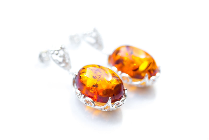 Demi Amber Drop Earrings