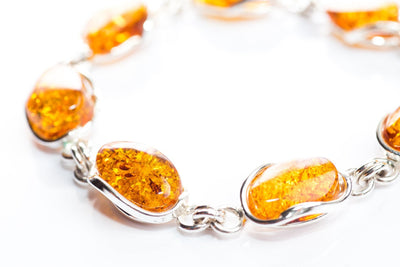 Baltic Beauty Bracelets Golden Amber Stone Bracelet