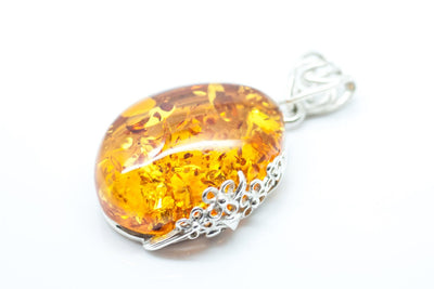 Baltic Beauty Pendant Golden Amber Stone Pendant