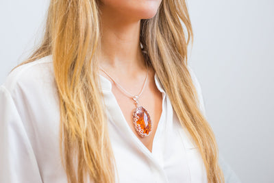 Baltic Beauty Necklaces Intricate Statement Amber Necklace