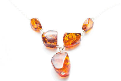 Baltic Beauty Necklaces Large Amber Stone Necklace