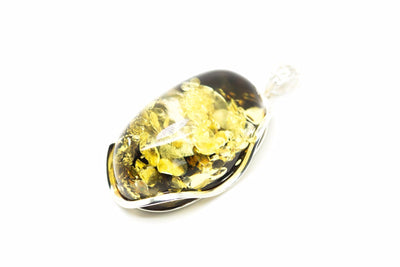 Baltic Beauty Pendant Large Green Amber Pendant