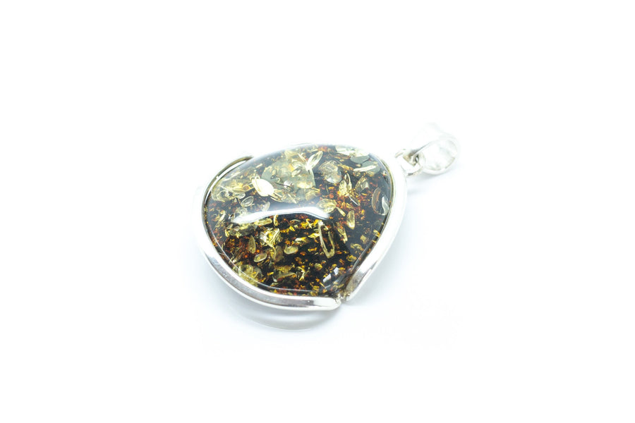 Large Green Amber Pendant