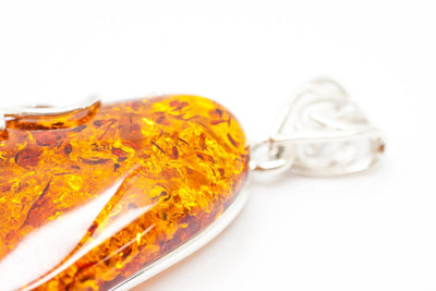 Baltic Beauty Pendant Large Pear Drop Amber Pendant