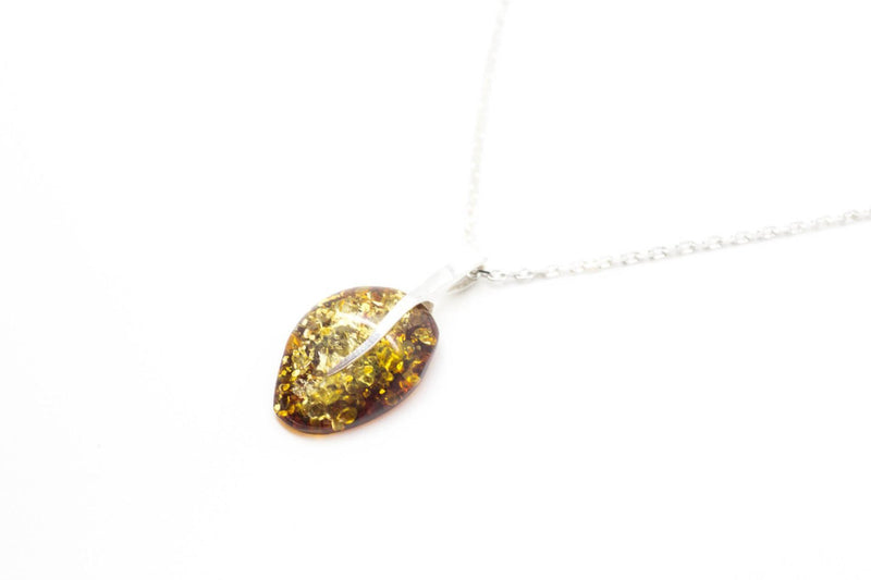 Baltic Beauty Pendant Little Raw Amber Stone Necklace