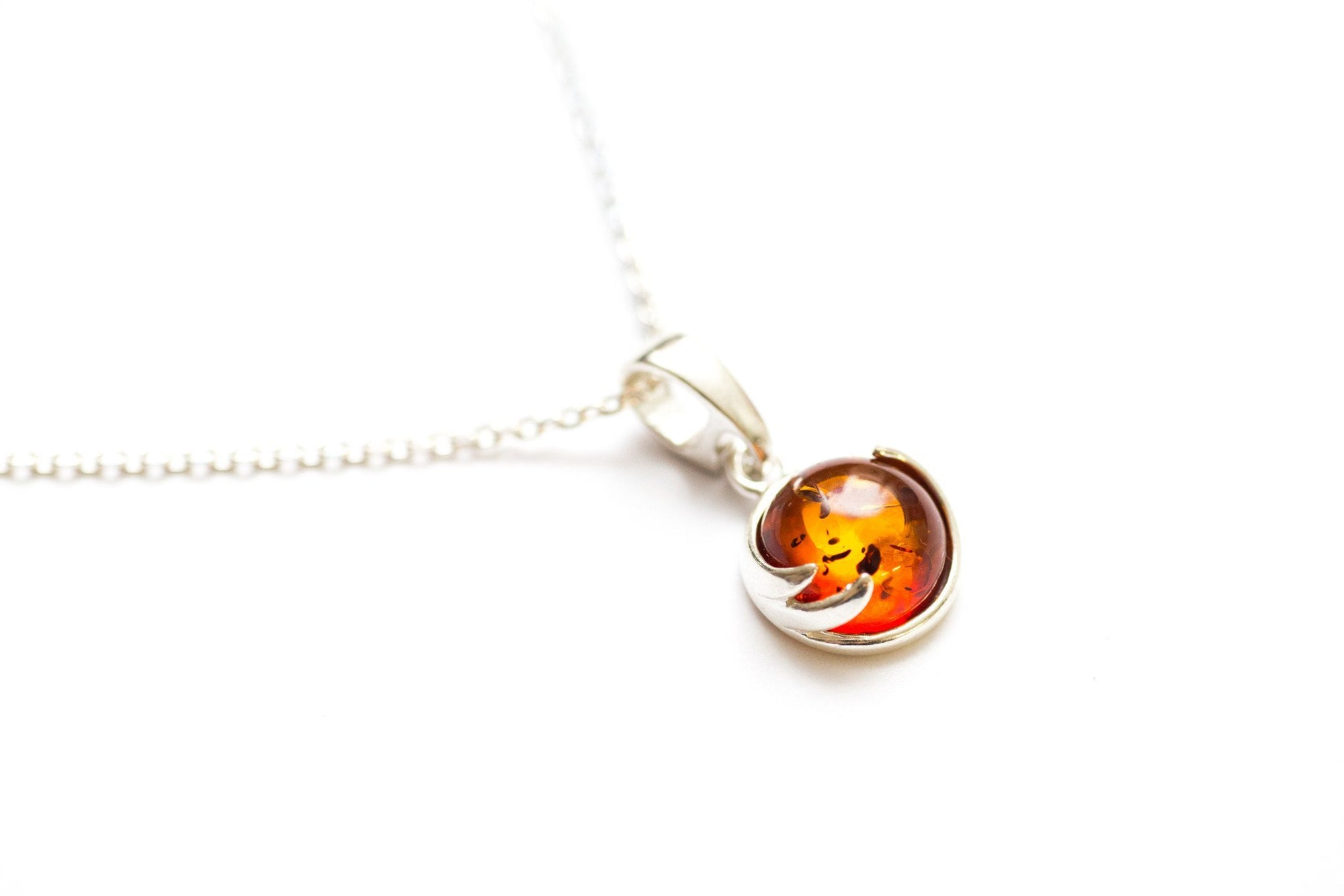 PETITE COGNAC BALTIC AMBER EARRINGS  925 STERLING SILVER Pendant available