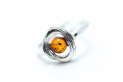 Baltic Beauty Rings Minimalist Amber Stone Ring