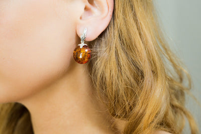 Baltic Beauty Earrings Modern Amber Drop Earrings