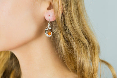 Baltic Beauty Earrings Modern Amber Orbital Earrings