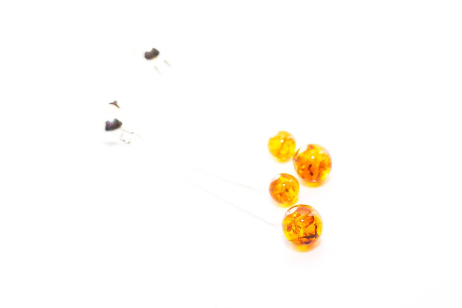 Baltic Beauty Jewellery Sets Modern Amber Sphere Jewellery Set