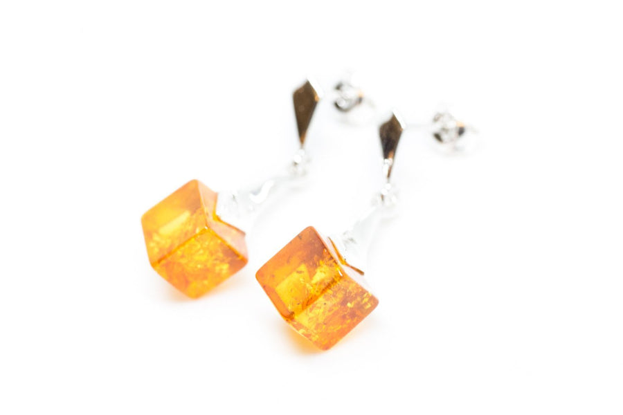 Baltic Beauty Jewellery Sets Modern Cube Amber Jewellery Set