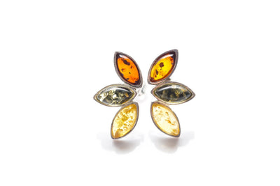 Baltic Beauty Earrings Multicolour Amber Stud Earrings