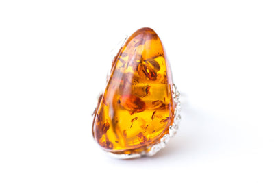 Baltic Beauty Rings Nature Inspired Baltic Amber Ring