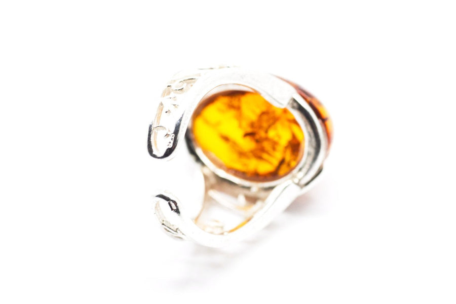 Baltic Beauty Rings Oval Amber Ring