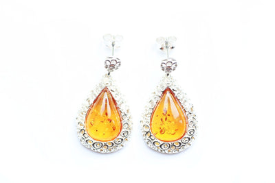 Baltic Beauty Earrings Pear Drop Frame Earrings