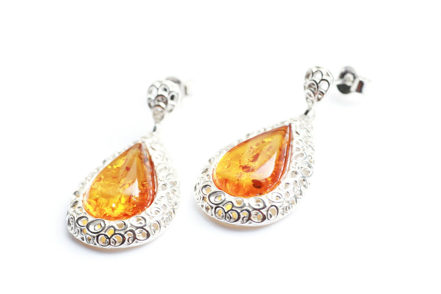 Pear Drop Frame Earrings