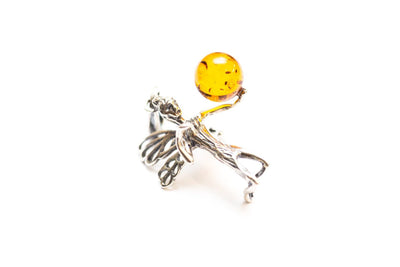 Baltic Beauty Pendant Pixie Amber Orb Pendant