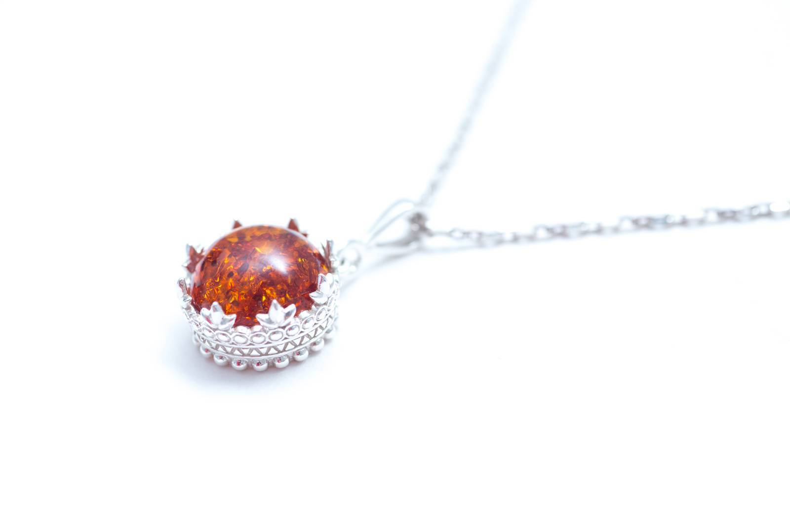 Princess crown amber pendant silver and baltic amber necklace baltic beauty pendant princess crown amber pendant mozeypictures Images
