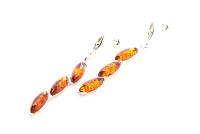 Baltic Beauty Earrings Rigid Dangle Amber Earrings