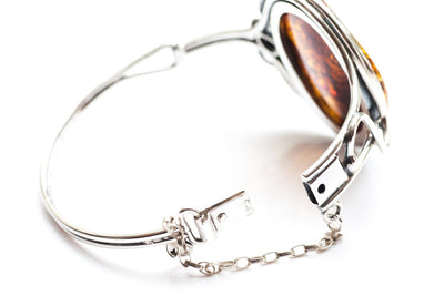 Baltic Beauty Bangles Round Amber Rose Bangle