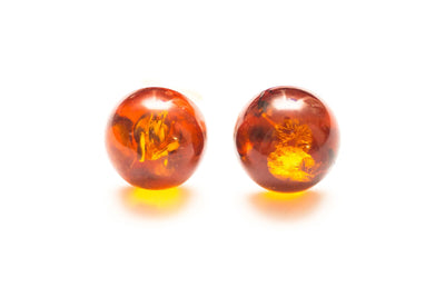 Baltic Beauty Earrings Round Amber Stud Earrings