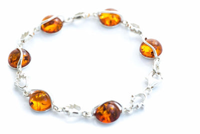 Baltic Beauty Bracelets Round Fire Link Bracelet