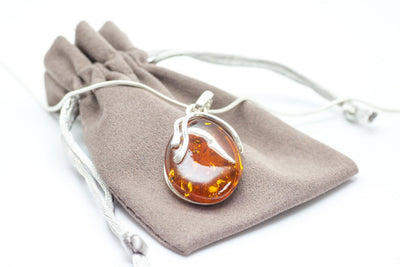 Baltic Beauty Pendant Simple Round Amber Pendant