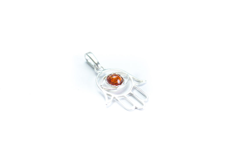 Baltic Beauty Pendant Small Amber Hamsa Pendant