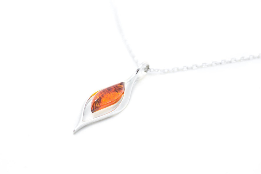Baltic Beauty Pendant Small Droplet Amber Pendant
