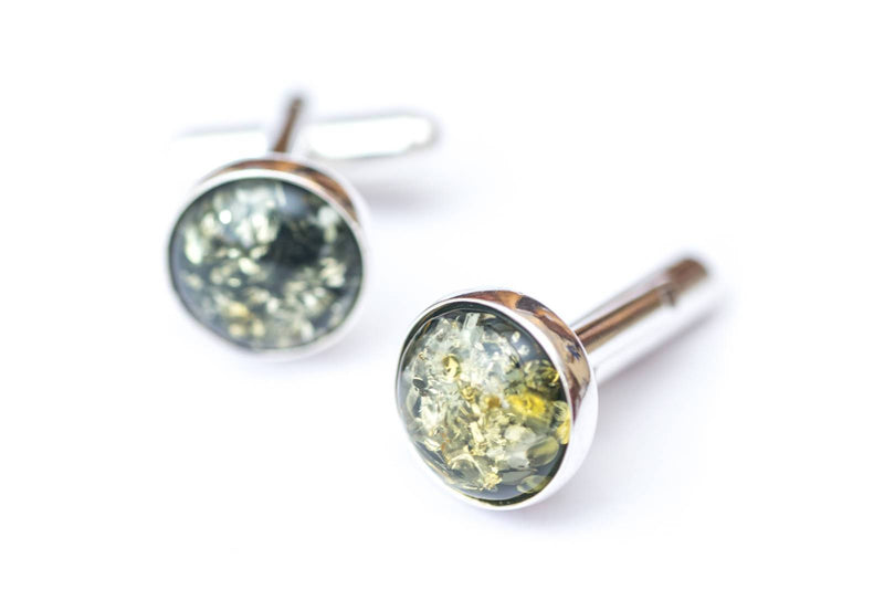 ESSENTIALS Green Amber Cufflinks