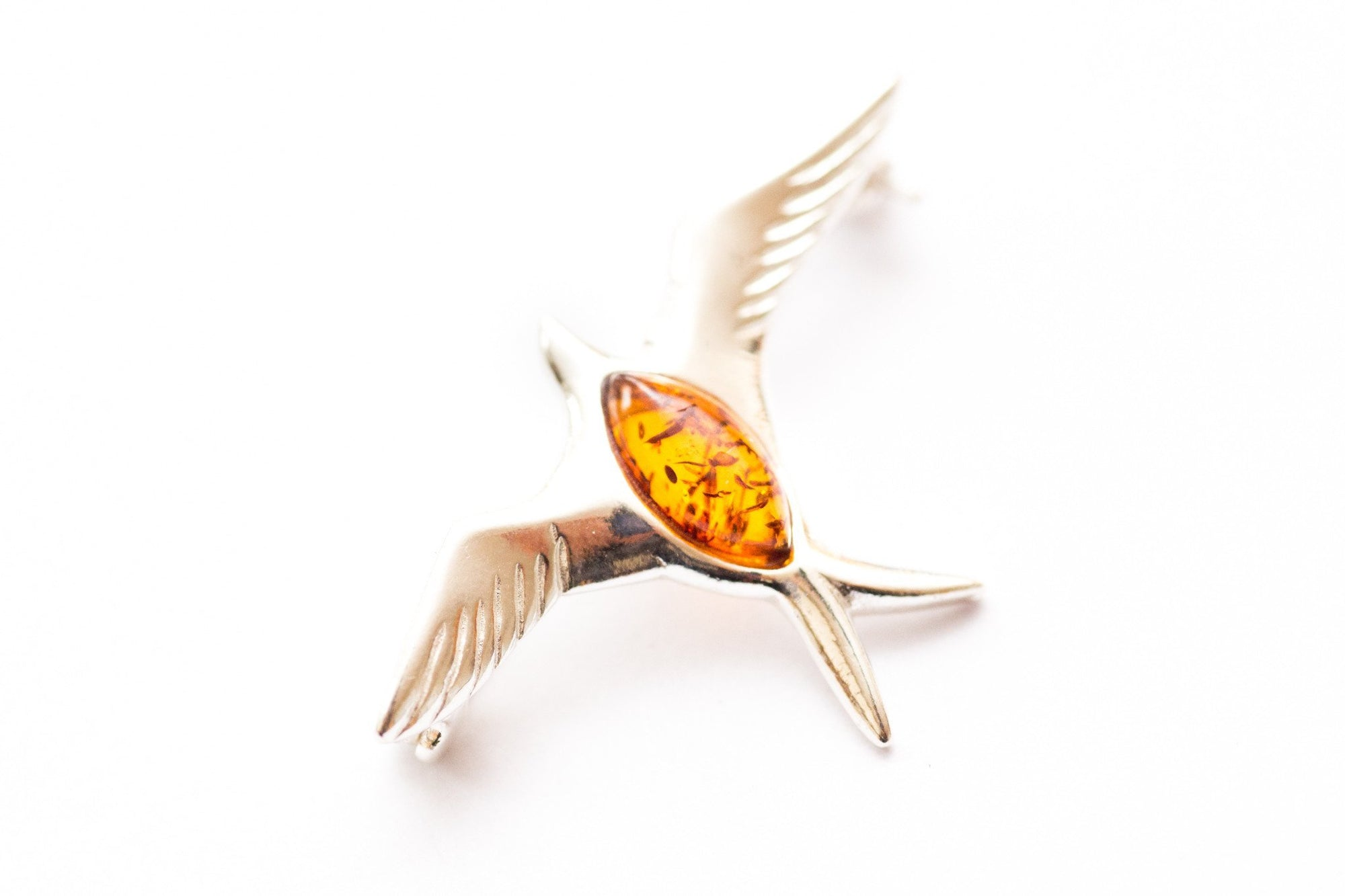 Baltic Beauty Brooches Sparrow Amber Brooch