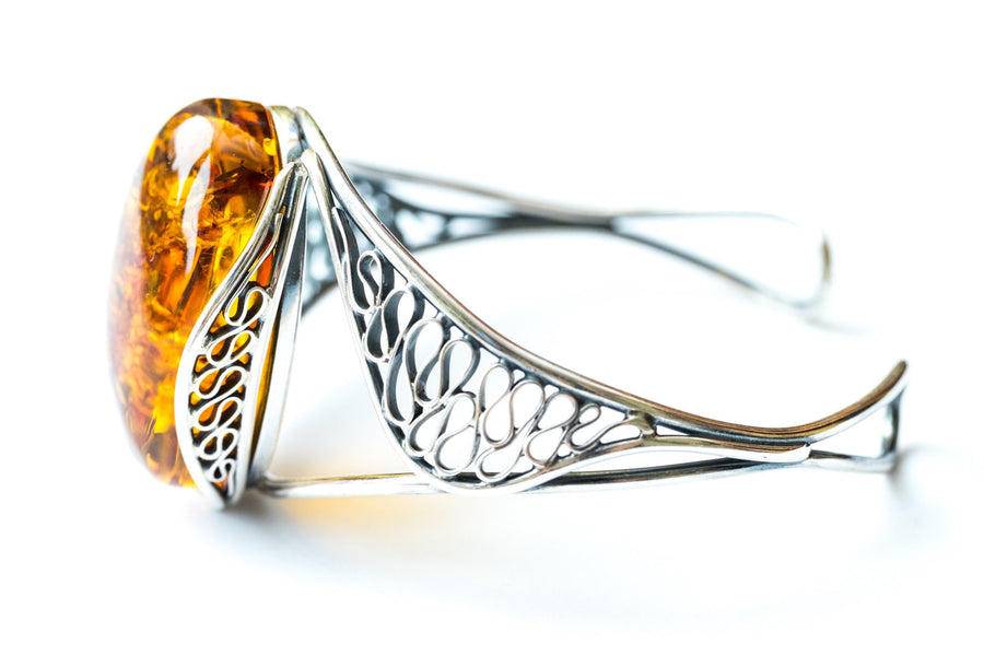 Statement Amber Bangle