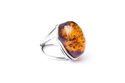 Baltic Beauty Rings Statement Baltic Amber Ring