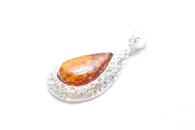 Baltic Beauty Pendant Structured Amber Pendant
