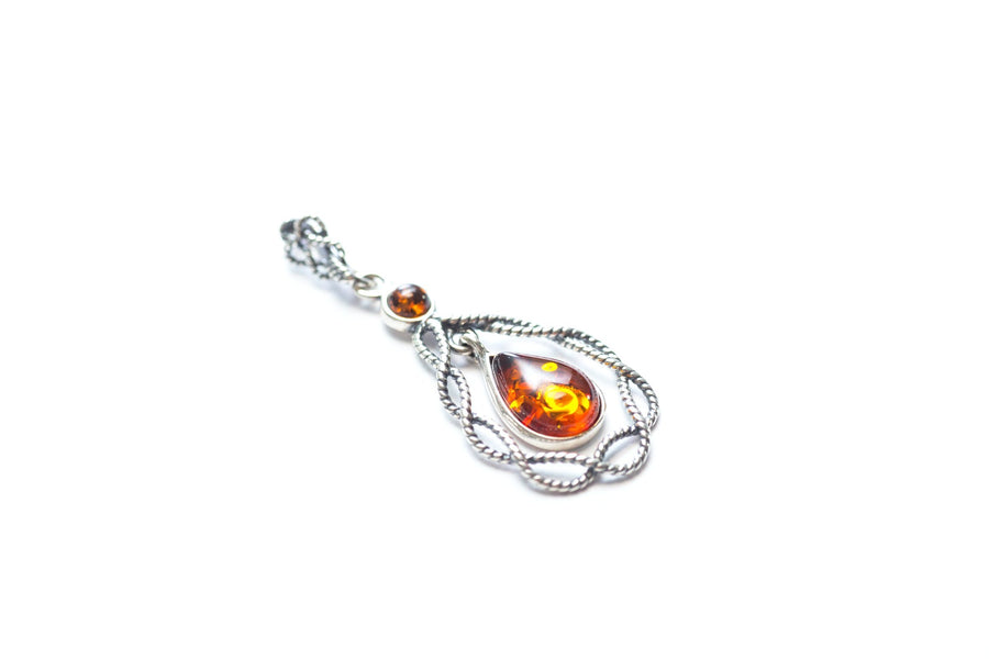 Suspended Droplet Amber Pendant