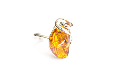 Baltic Beauty Rings Swirl Top Amber Stone Ring