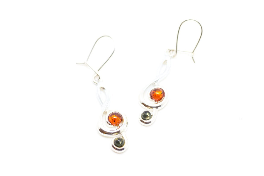 Treble Clef Gemstone Earrings