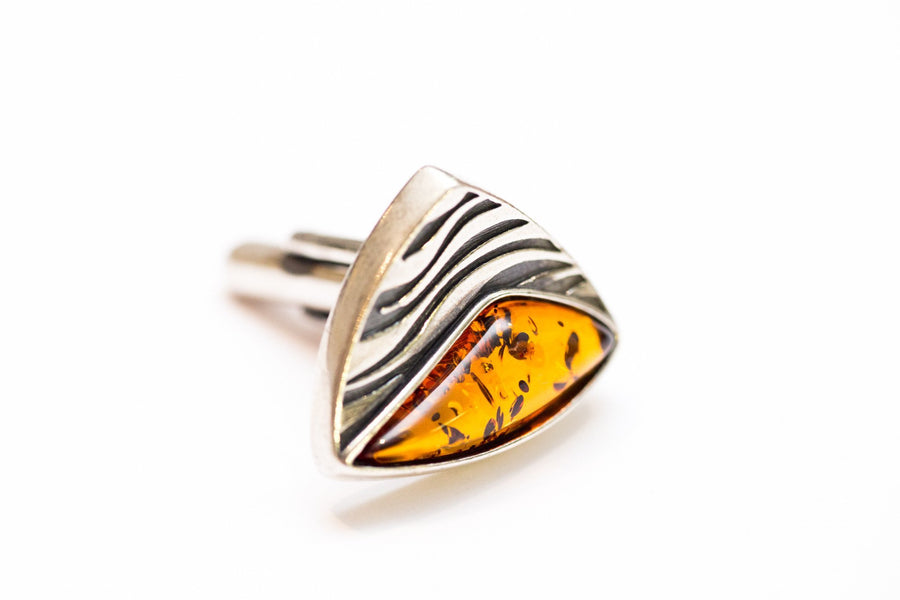 Triangular Amber Cufflinks