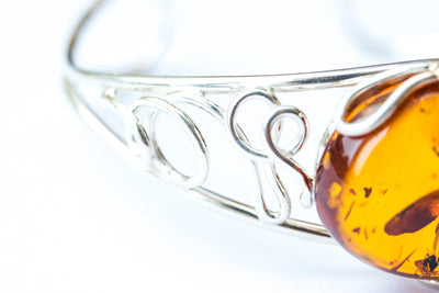 Baltic Beauty Bangles Unique Amber Arm Cuff