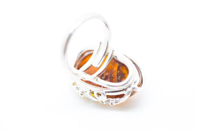 Baltic Beauty Rings Unique Amber Stone Ring